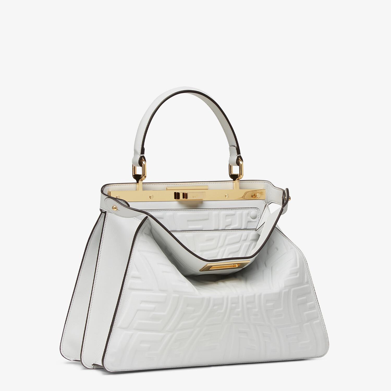 FENDI PEEKABOO ISEEU MEDIUM - White nappa leather bag with a glow in the dark FF - view 4 detail