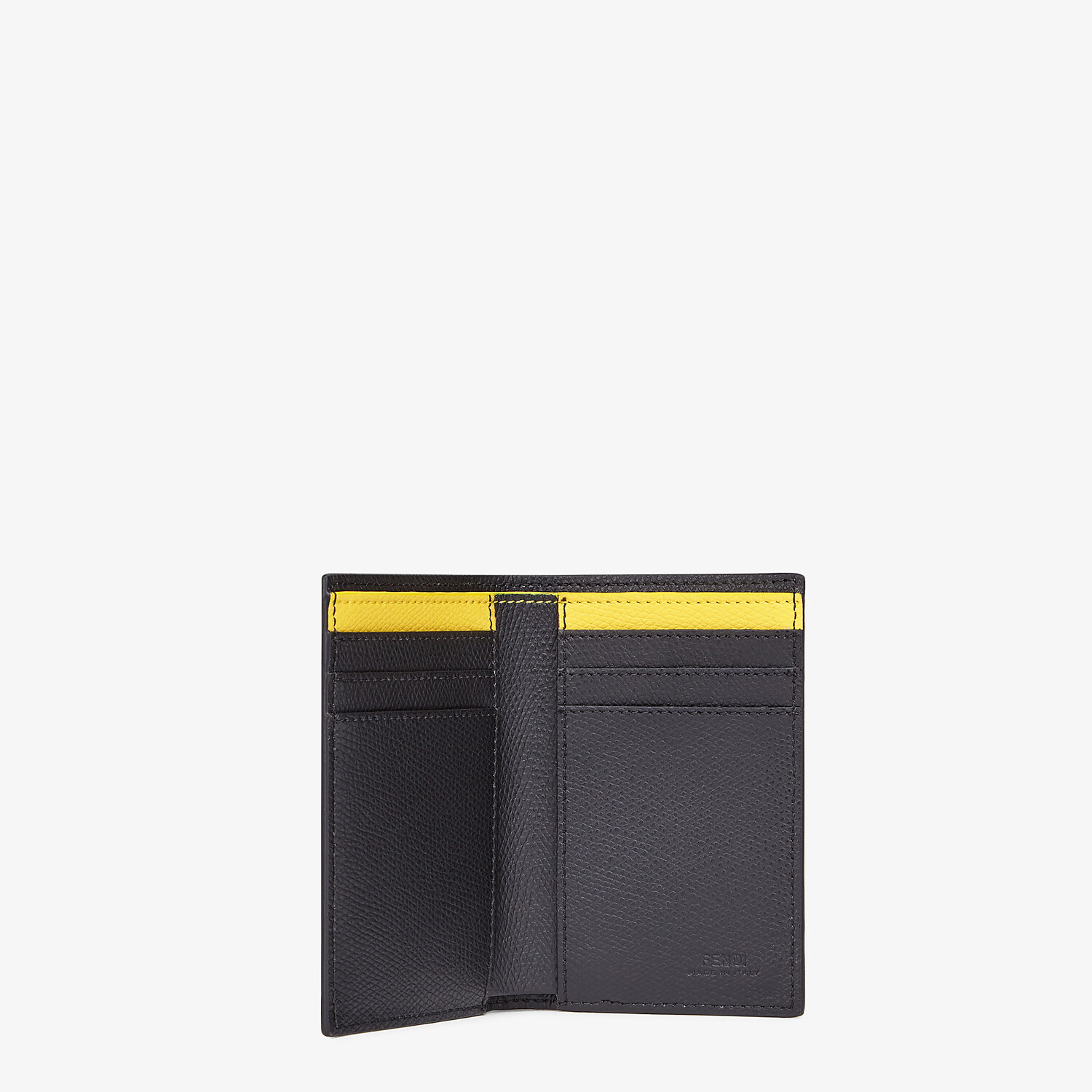 FENDI CARD HOLDER - Yellow leather wallet - view 3 detail