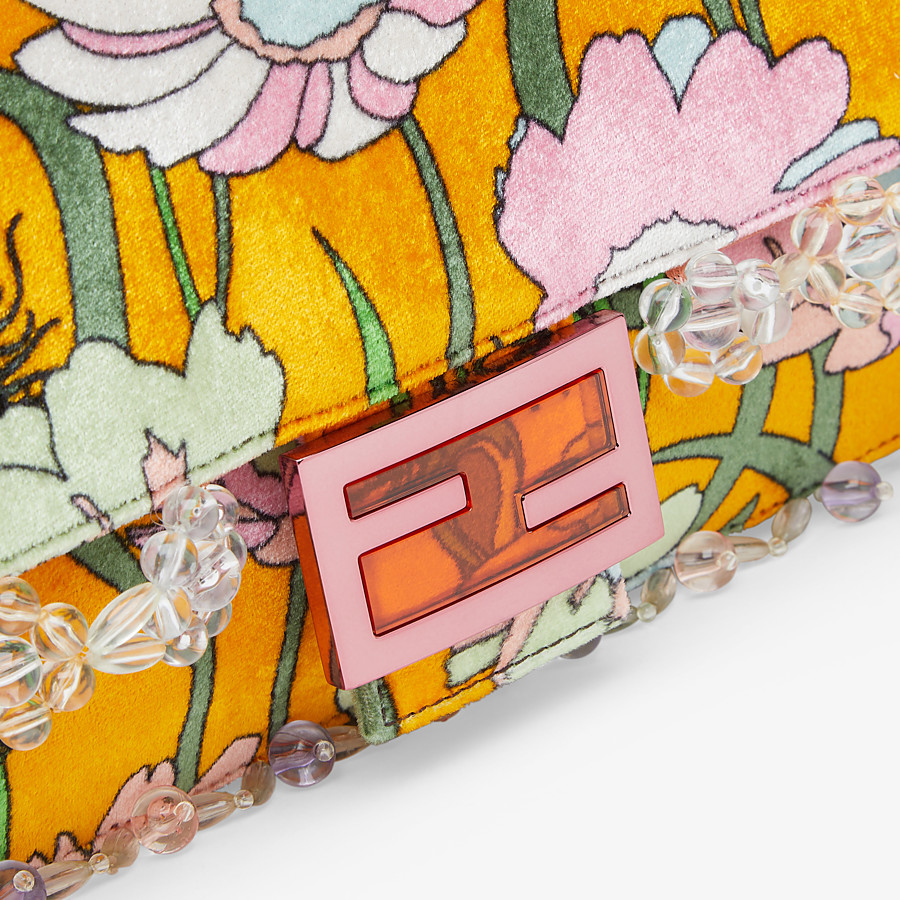 FENDI BAGUETTE - Bag in multicolour chenille - view 6 detail
