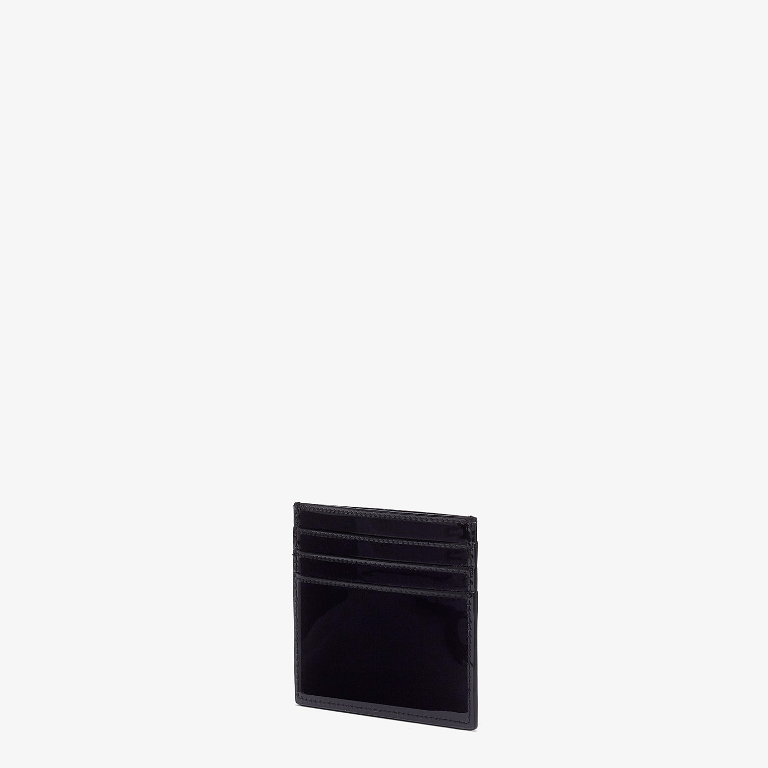 FENDI CARD HOLDER - Flat card holder in black patent leather - view 2 detail