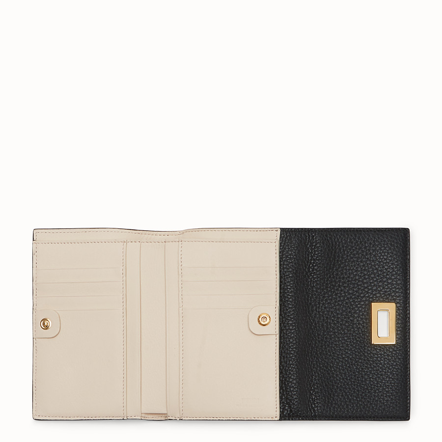 FENDI WALLET - Black leather wallet - view 4 detail