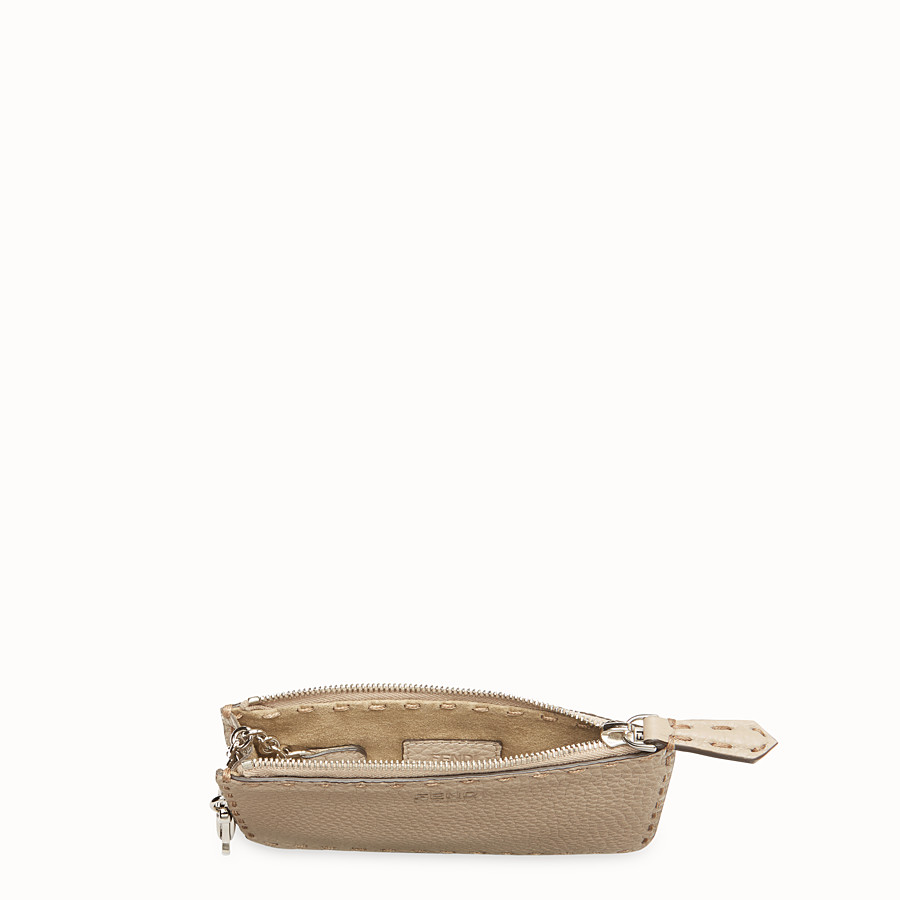 FENDI KEY RING - Beige leather pouch - view 4 detail