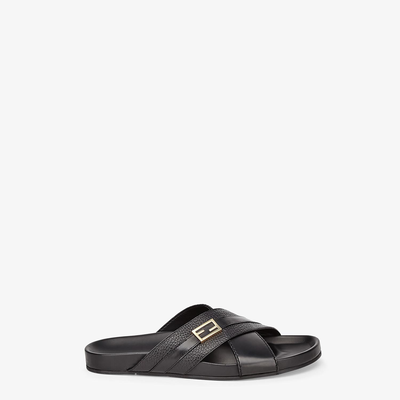 FENDI SANDALS - Black leather footbed - view 1 detail