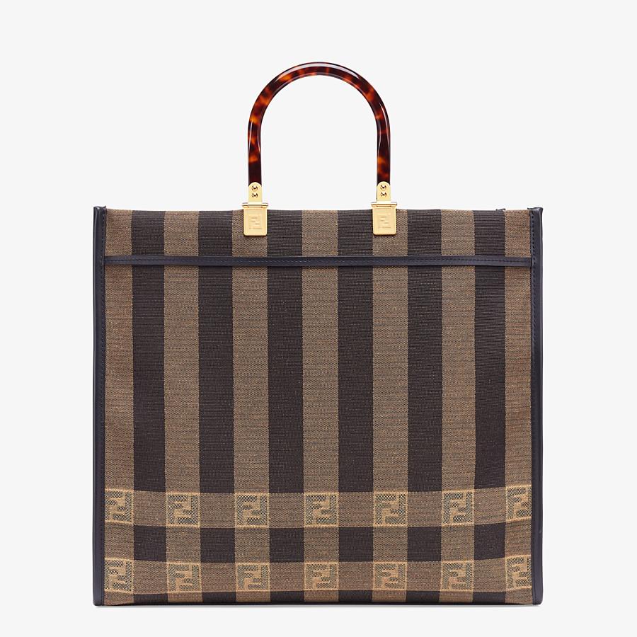 FENDI FENDI SUNSHINE LARGE - Shopper in brown fabric - view 4 detail