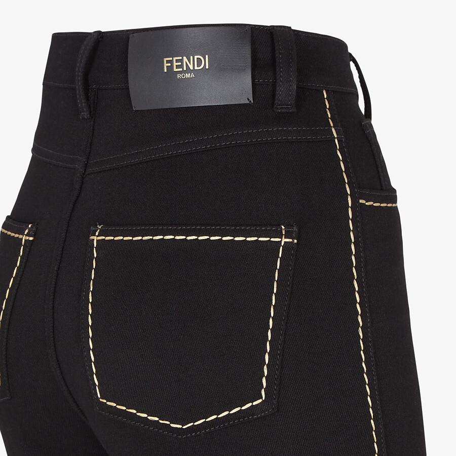 FENDI PANTS - Black denim pants - view 3 detail