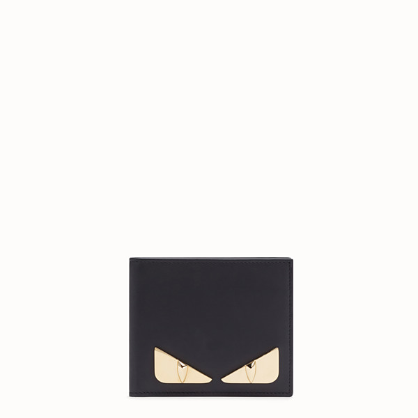 FENDI BI-FOLD WALLET - Black leather bi-fold wallet - view 1 small thumbnail