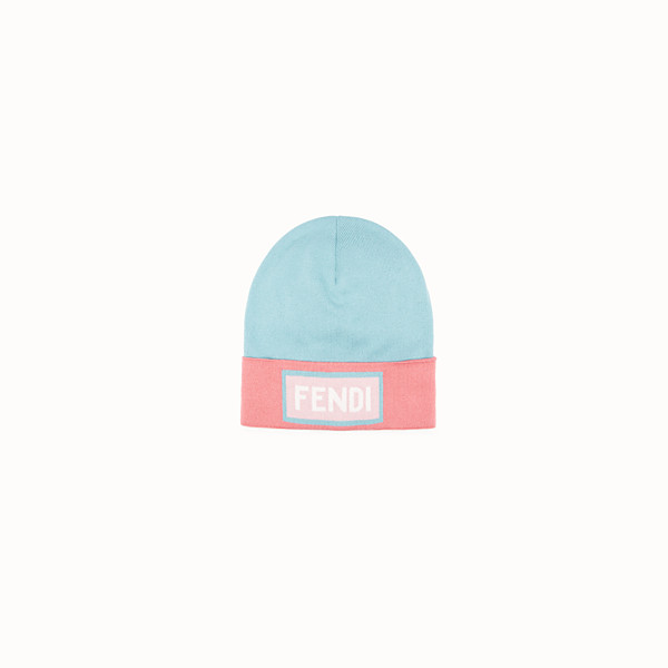 FENDI HAT - Sage green and pink wool hat - view 1 small thumbnail