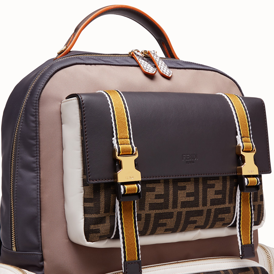 FENDI BACKPACK - Multicolor nylon backpack - view 4 detail