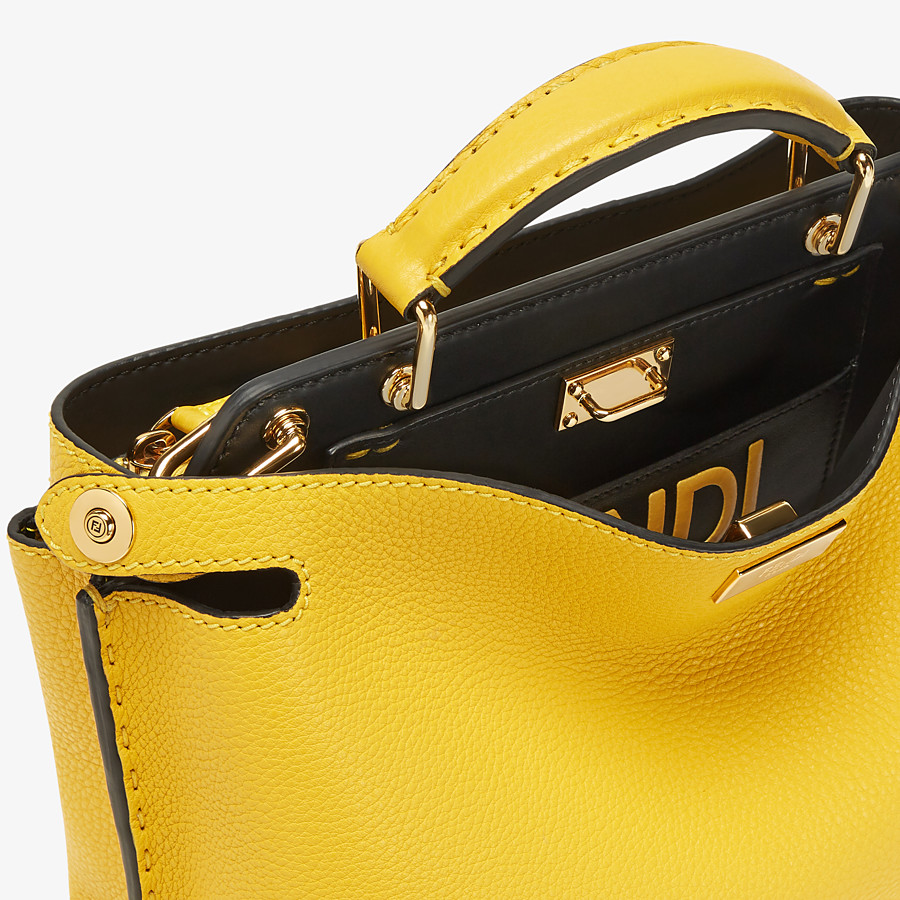 FENDI PEEKABOO ICONIC ESSENTIALLY - Yellow leather bag - view 5 detail