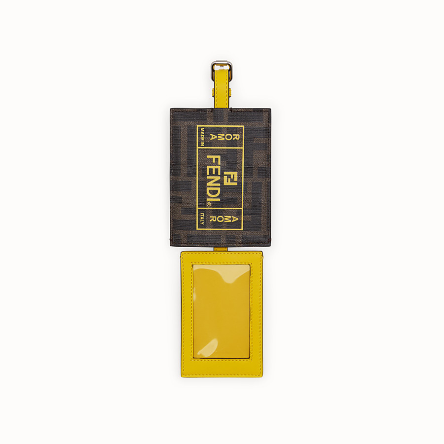 FENDI ADDRESS CARD - Yellow PU travel tag - view 2 detail