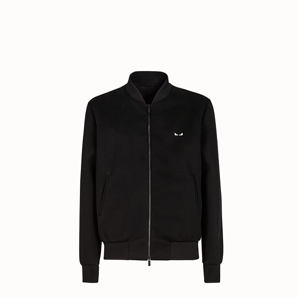 FENDI BLOUSON JACKET - Black neoprene jacket - view 1 small thumbnail