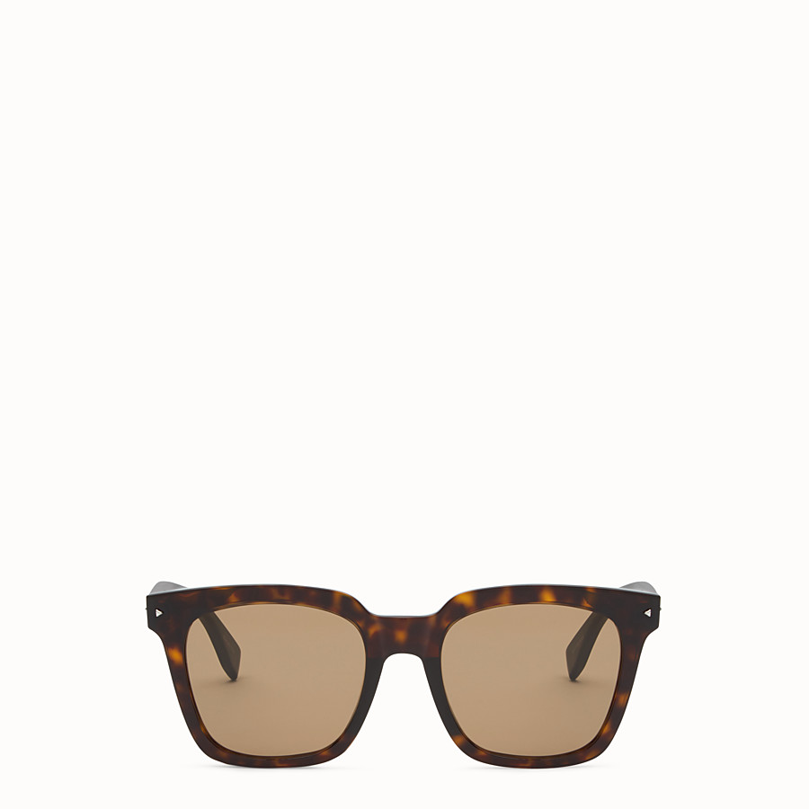 FENDI FENDI SUN FUN - Havana Asian fit sunglasses - view 1 detail