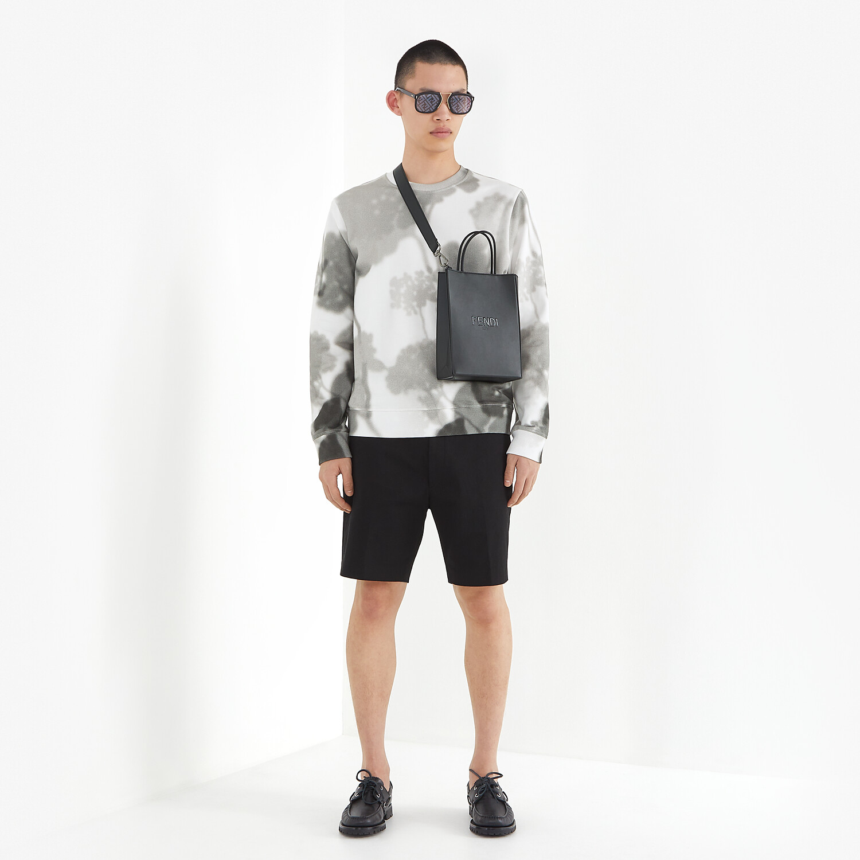 FENDI SWEATSHIRT - White cotton sweatshirt - view 4 detail