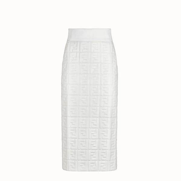 FENDI SKIRT - White nappa leather skirt - view 1 small thumbnail
