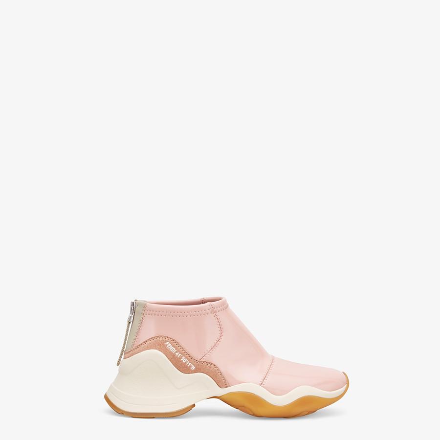 FENDI SNEAKERS - Glossy pink neoprene sneakers - view 1 detail