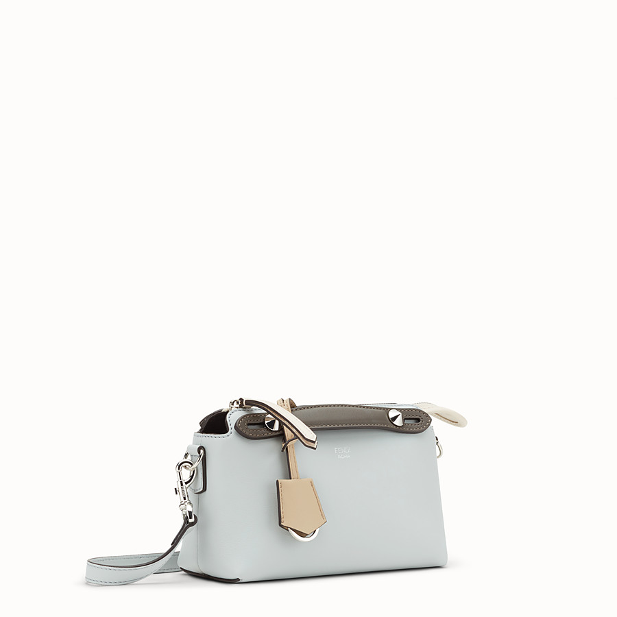 FENDI BY THE WAY MINI - Small grey leather Boston bag - view 2 detail
