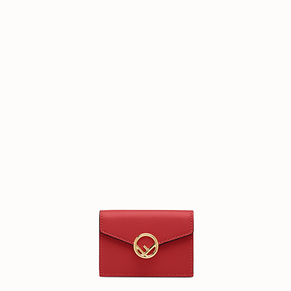 FENDI MICRO TRIFOLD - Red leather wallet - view 1 small thumbnail