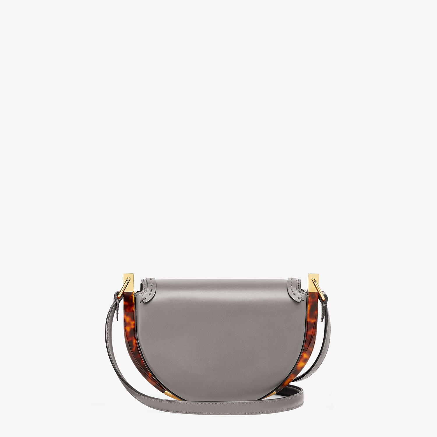 FENDI MOONLIGHT - Gray leather bag - view 3 detail