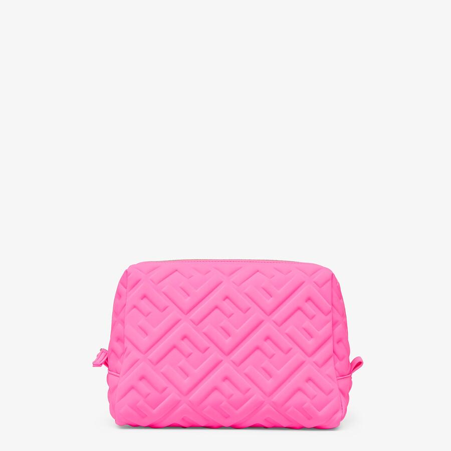 FENDI MEDIUM BEAUTY POUCH - Pink LYCRA® toiletry case - view 1 detail