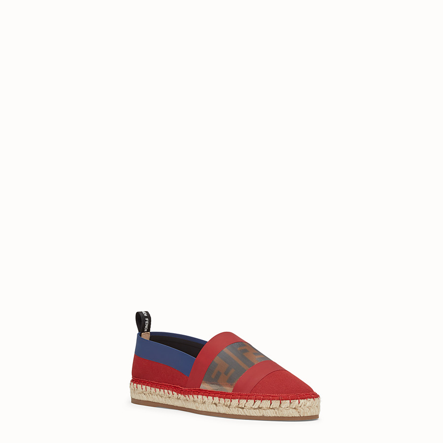 FENDI ESPADRILLES - Red canvas espadrilles - view 2 detail