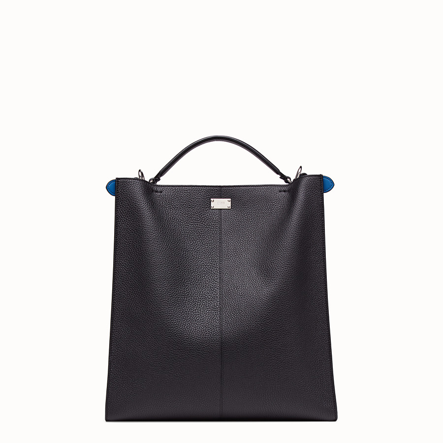 FENDI PEEKABOO X-LITE FIT - Black, calf leather bag - view 4 detail