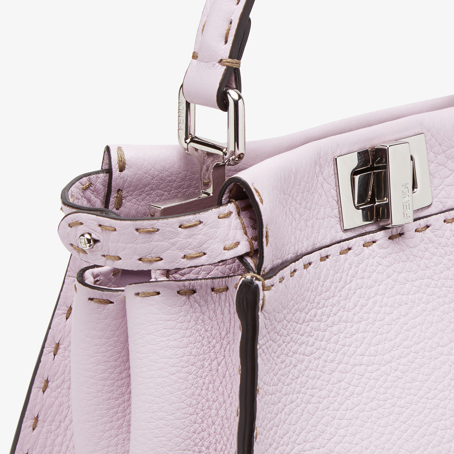 FENDI PEEKABOO ICONIC MINI - Lilac Selleria bag - view 6 detail