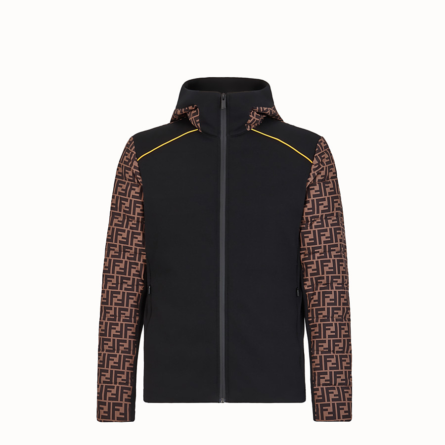 FENDI BLOUSON JACKET - Multicolour tech fabric jumper - view 1 detail