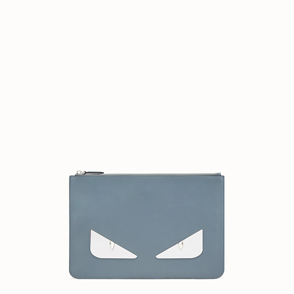 FENDI POUCH - Light blue leather pouch - view 1 small thumbnail