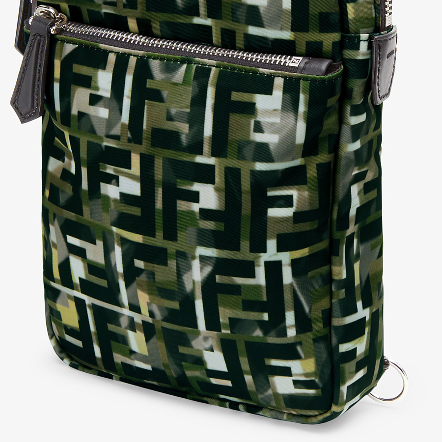 FENDI BELT BAG - One-shoulder backpack in multicolor nylon - view 5 detail