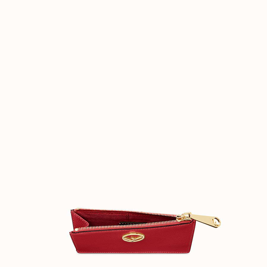 FENDI CARD POUCH - Red leather pouch - view 4 detail
