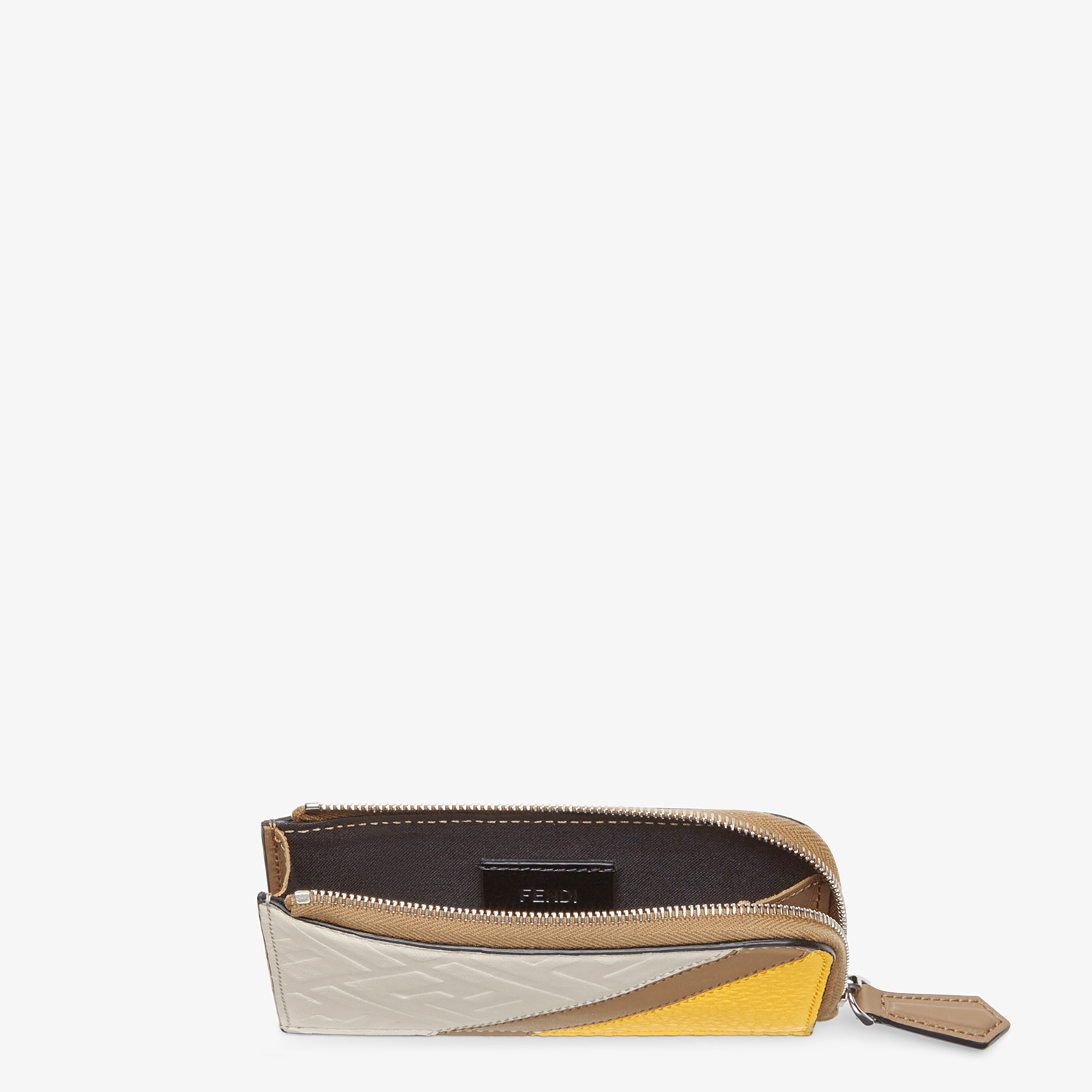 FENDI COIN PURSE - White leather pouch - view 3 detail