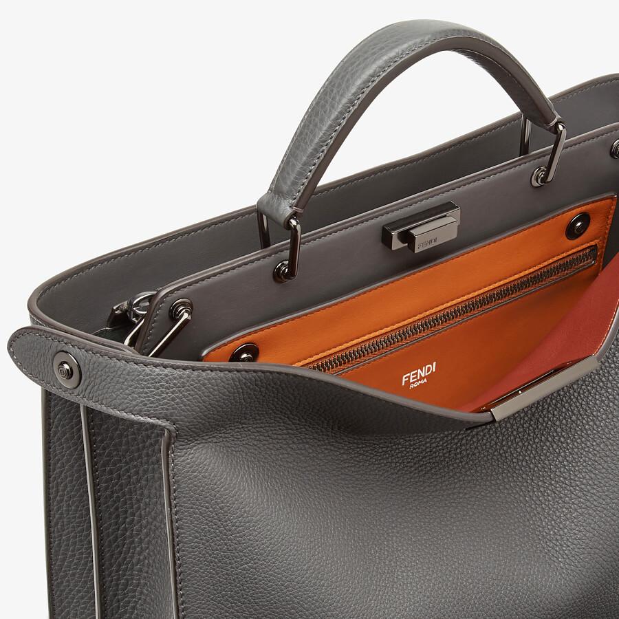 FENDI PEEKABOO ISEEU MEDIUM - Gray leather bag - view 6 detail