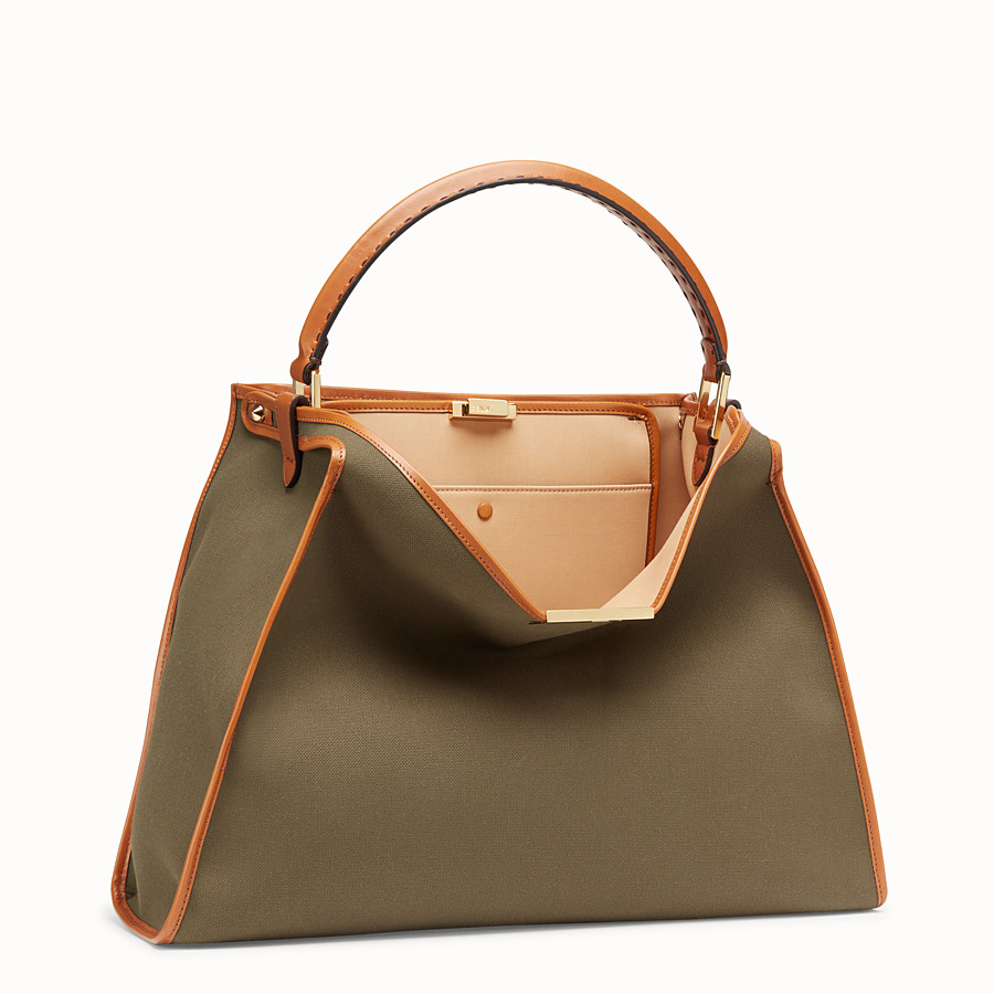 FENDI PEEKABOO X-LITE - Green canvas bag - view 3 detail