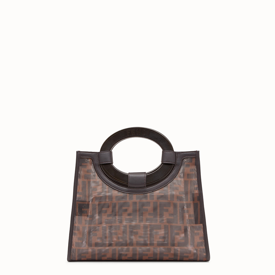 FENDI RUNAWAY SHOPPER - Multicolour mesh shopper - view 3 detail