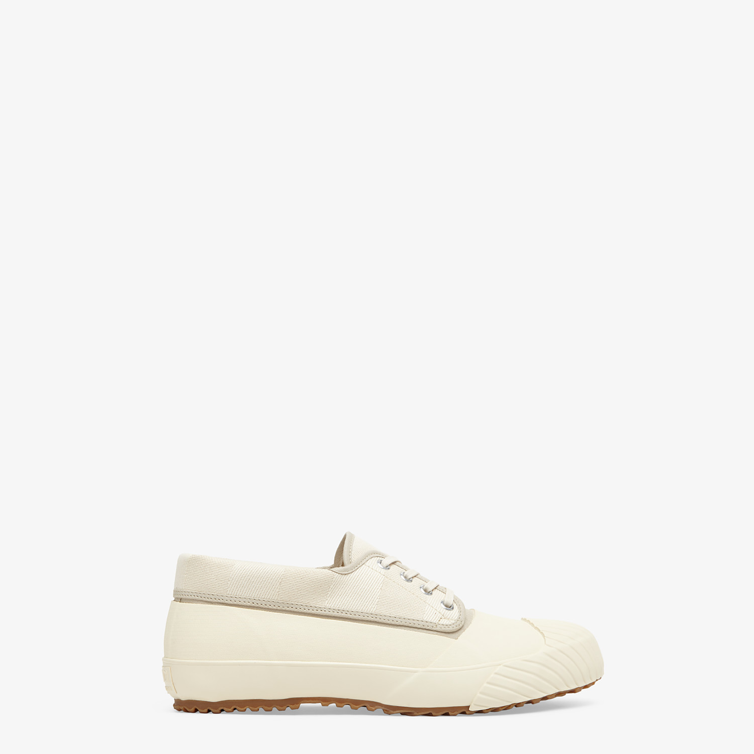 FENDI FENDI AND MOONSTAR SNEAKERS - Low-tops in canvas and white rubber - view 1 detail