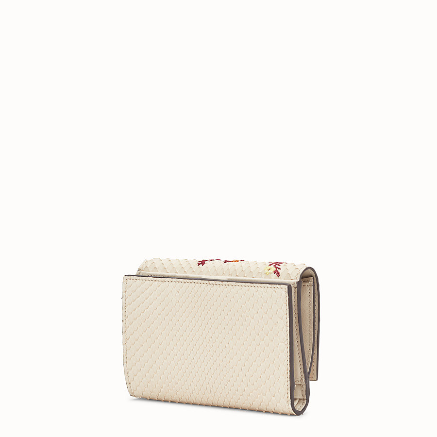 FENDI CONTINENTAL MEDIUM - White python wallet - view 2 detail