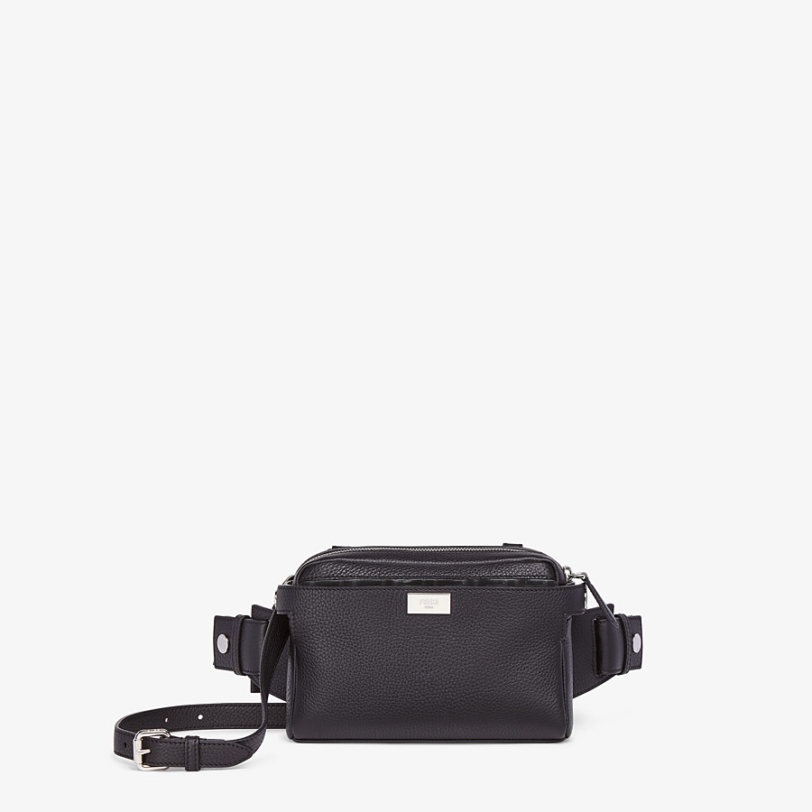 FENDI BELT BAG - Black leather belt bag - view 1 detail