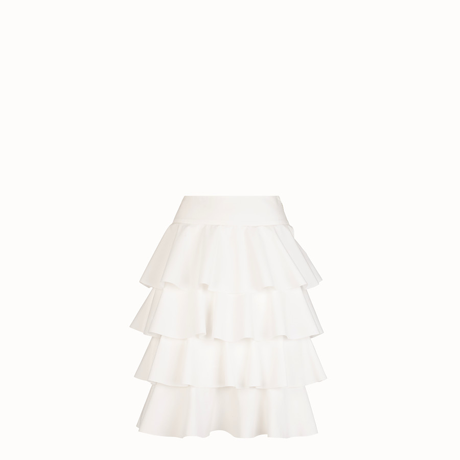 FENDI SKIRT - White cotton skirt - view 1 detail