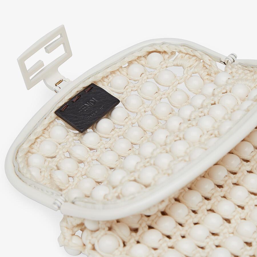 FENDI BAGUETTE PHONE BAG - White lace mini-bag - view 4 detail
