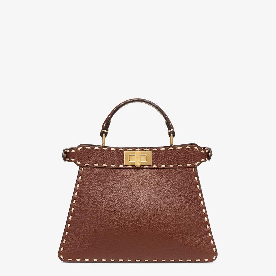 FENDI PEEKABOO ISEEU SMALL - Brown full grain leather bag - view 4 detail
