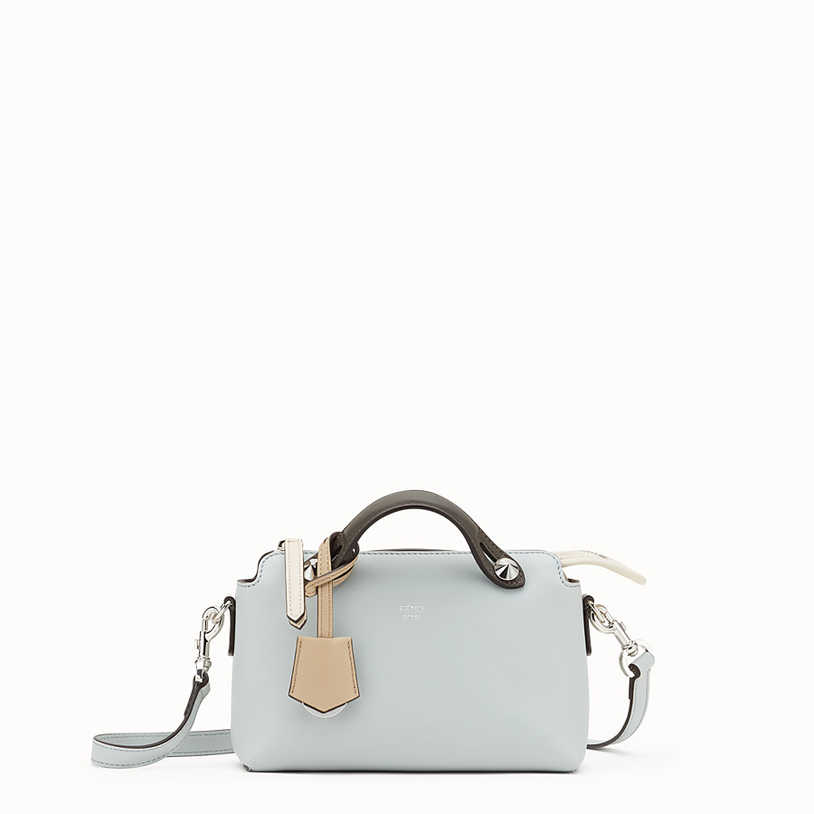 FENDI BY THE WAY MINI - Small grey leather Boston bag - view 1 detail