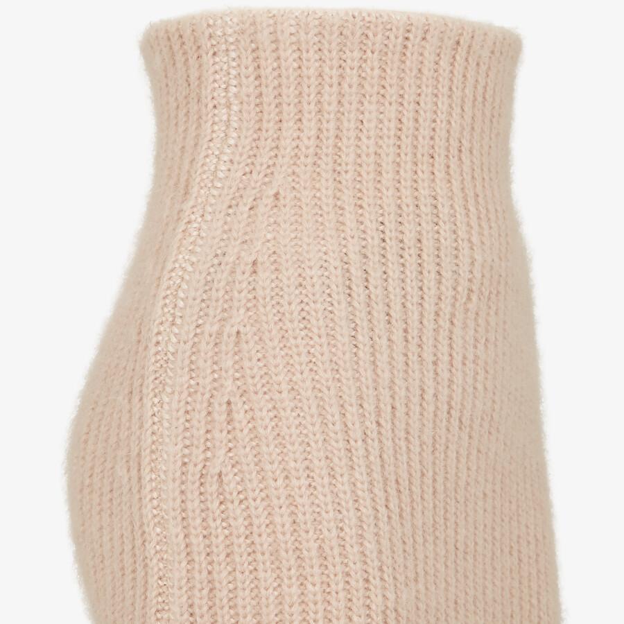 FENDI SKIRT - Pink mohair skirt - view 3 detail