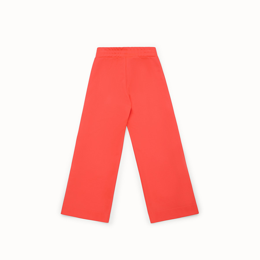 FENDI PANTS - Pink tech fleece trousers - view 3 detail
