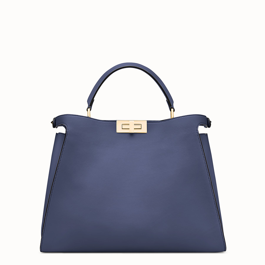 FENDI PEEKABOO ESSENTIAL - Blue leather bag - view 3 detail