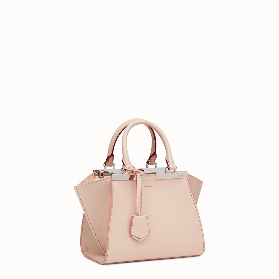 FENDI MINI 3JOURS - powder pink leather handbag - view 2 detail