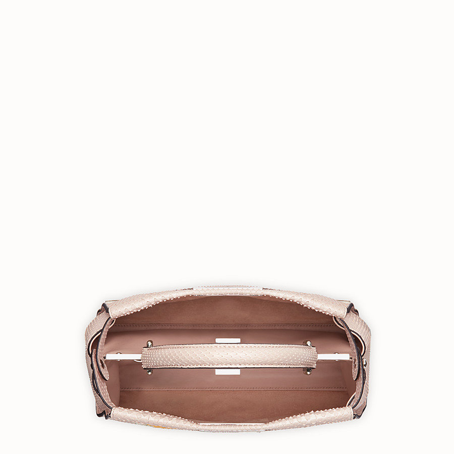 FENDI PEEKABOO REGULAR - Pink python leather bag - view 4 detail