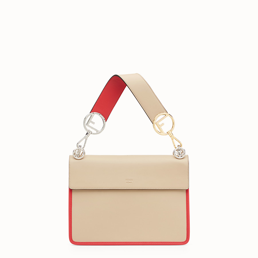 FENDI KAN I F - Beige leather bag - view 3 detail