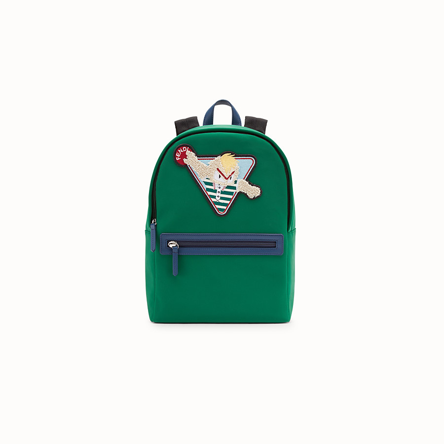 FENDI JUNIOR BACKPACK - Green neoprene backpack - view 1 detail