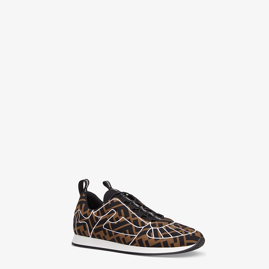 FENDI SNEAKERS - Sneakers en Lycra® marron - view 2 detail