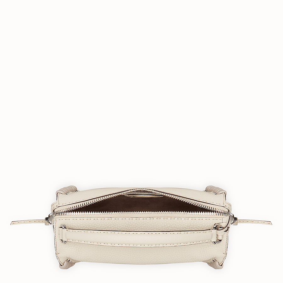 FENDI LEI SELLERIA BAG - White leather Boston bag - view 4 detail